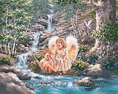 Dona Gelsinger, CHILDREN, paintings(USGE0004/Bottom,#K#) Kinder, niños, illustrations, pinturas angels, ,everyday