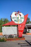 The Cotton Boll Motel in Canute Oklahoma operated on Route 66 from 1960 to 1979 and is now a private residence.  The motel was operated by Woodrow and Viola Peck, former cotton farmers.