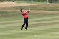 Marcel Siem (GER) plays his 2nd shot on the 13th hole during Saturday's Round 3 of the Porsche European Open 2018 held at Green Eagle Golf Courses, Hamburg Germany. 28th July 2018.<br /> Picture: Eoin Clarke | Golffile<br /> <br /> <br /> All photos usage must carry mandatory copyright credit (&copy; Golffile | Eoin Clarke)