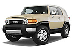 Low aggressive front three quarter view of a 2008 Toyota FJ Cruiser.