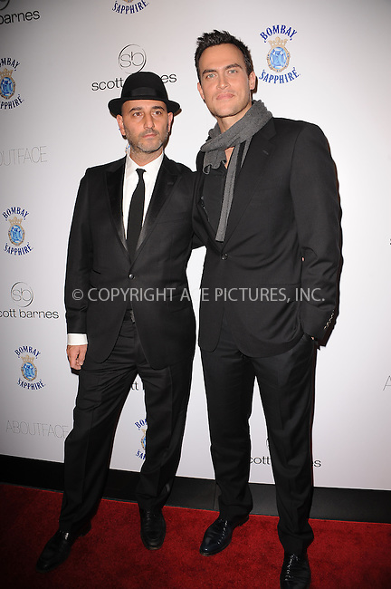 WWW.ACEPIXS.COM . . . . . ....January 20 2010, New York City....Photographer Carl Simone and actor Cheyenne Jackson arriving at the launch party for Scott Barnes' 'About Face' book at Provocateur at The Hotel Gansevoort on January 20, 2010 in New York City.....Please byline: KRISTIN CALLAHAN - ACEPIXS.COM.. . . . . . ..Ace Pictures, Inc:  ..tel: (212) 243 8787 or (646) 769 0430..e-mail: info@acepixs.com..web: http://www.acepixs.com