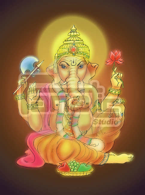 Close-up of Lord Ganesha