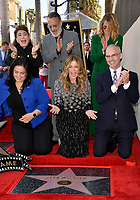LOS ANGELES, CA. March 29, 2019: Rana Ghadban, Rita Wilson, Mitch O'Farrell, Donelle Dadigan, Tom Hanks & Julia Roberts at the Hollywood Walk of Fame Star Ceremony honoring actress Rita Wilson.<br /> Pictures: Paul Smith/Featureflash