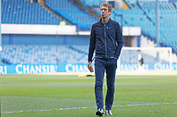 Swansea City manager Graham Potter walks on the pitch prior to the Sky Bet Championship match between Sheffield Wednesday and Swansea City at Hillsborough Stadium, Sheffield, England, UK. Saturday 23 February 2019