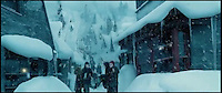 BNPS.co.uk (01202 558833)<br /> Pic: SnowBusiness/BNPS<br /> <br /> ***Please Use Full Byline***<br /> <br /> A screen shot from the film Harry Potter and the Prisoner of Azkaban.<br /> <br /> Staff are celebrating their success in the way only they can...by turning a warm september day into a Xmas snow scene in seconds.<br /> <br /> The worlds biggest producer of snow is celebrating after another bumper year in which they have supplied the film and television industry with the white stuff from the unlikely headquarters near Stroud in Gloucestershire.<br /> <br /> The tiny British company are the first port of call for Hollywood producers when the on screen temperature drops and they can't wait on the weather - Recent credits include Maleficent, Snow White and the Huntsman and Philomena.<br /> <br /> Homegrown favourites like Dr Who and Downton are also customers, owner Darcy Crownshaw claims 'Everywhere you go the snow you see will probably be ours, from Harrods and Selfridges shop windows to the adverts and programmes on your television and films at the cinema.'