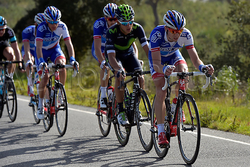 21.02.2016. Almodovor, Algarve, Portugal.  COURTEILLE Arnaud (FRA)  of FDJ in action during stage 5 of the 42nd Tour of Algarve cycling race with start in Almodovar and finish in Malhao (Loule) on February 21, 2016 in Malhao, Portugal.