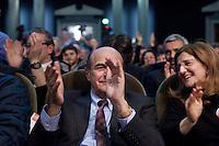 Bergamo: Pier Luigi Bersani durante un incontro organizzato a Bergamo dal Partito Democratico