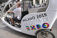 - Milano, pubblicit&agrave; per EXPO 2015 <br />