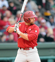 USC infielder Adrian Morales (3) during a game between the Clemson Tigers and South Carolina Gamecocks Saturday, March 6, 2010, at Fluor Field at the West End in Greenville, S.C. Photo by: Tom Priddy/Four Seam Images