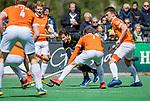 BLOEMENDAAL - Austin Smith (Den Bosch)  tijdens de hoofdklasse competitiewedstrijd hockey heren,  Bloemendaal-Den Bosch  COPYRIGHT KOEN SUYK