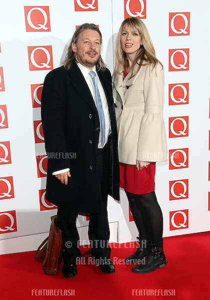 Richard Herring and Catie Wilkins arriving for The Q Awards 2012 held at the Grosvenor Hotel, London. 22/10/2012 Picture by: Henry Harris / Featureflash