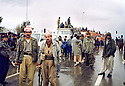 Iraq 1991 <br /> Peshmergas coming back from Ziweh in Iran during the uprising  <br /> Irak 1991 <br /> Peshmergas rentrant de Ziwa en 'Iran pendant le soulevement contre le regime irakien