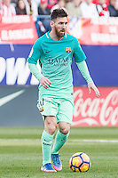 Leo Messi of Futbol Club Barcelona in action  during the match of Spanish La Liga between Atletico de Madrid and Futbol Club Barcelona at Vicente Calderon Stadium in Madrid, Spain. February 26, 2017. (ALTERPHOTOS) /NortEPhoto.com