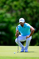 Jo&euml;l Stalter (FRA) in action during the final round of the Afrasia Bank Mauritius Open played at Heritage Golf Club, Domaine Bel Ombre, Mauritius. 03/12/2017.<br /> Picture: Golffile   Phil Inglis<br /> <br /> <br /> All photo usage must carry mandatory copyright credit (&copy; Golffile   Phil Inglis)