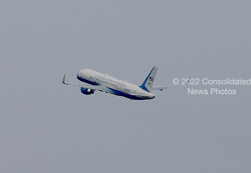 Air Force One, with United States President Barack Obama aboard, takes-off from Joint Base Andrews, in Maryland on Thursday, July 2, 2015.  The designation &quot;Air Force 1&quot; is extended to any airplane transporting the President of the U.S.  For the President's trip to LaCrosse, Wisconsin, the smaller C-32, which is a specially configured Boeing 757-200, was used, instead of the familiar VC-25, probably due to the smaller airport.  In addition to its occasional use for Presidential travel, the C-32 regularly transports the Vice President, the first lady, members of the Cabinet and members of Congress.<br /> Credit: Ron Sachs / Pool via CNP