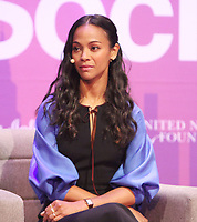 NEW YORK, NY May 04, 2017  Zoe Saldana attend  5th Annual Moms +SocialGood Event at AXA Event & Production Center in New York May 04,  2017. Credit:RW/MediaPunch