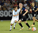Emi Nakajima (JPN), Becky Sauerbrunn (USA), JUNE 2, 2016 - Football / Soccer : Women's International Friendly match between United States 3-3 Japan at Dick's Sporting Goods Park in Commerce City, Colorado, United States. (Photo by AFLO)