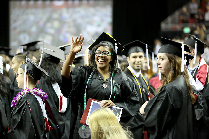 SEATTLE UNIVERSITY - 2016 COMMENCEMENT - UNDERGRADUATES - KEYARENA - SEATTLE, WASH. - SUNDAY, JUNE 12, 2016