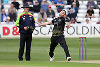 Ryan Higgins in bowling action for Gloucestershire during Essex Eagles vs Gloucestershire, Royal London One-Day Cup Cricket at The Cloudfm County Ground on 7th May 2019