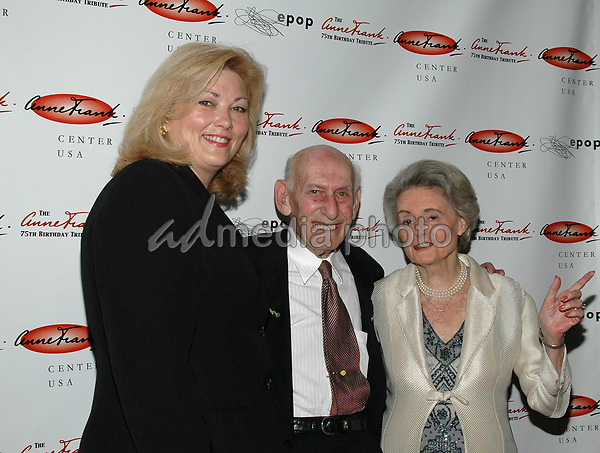 7June 2005 - New York, New York - Susan Claves, Exec. Dir. of the Houston Holocaust Museum, and Jack and Ina Pollak of the Anne Frank USA Committee arrive at the Anne Frank 75th Birthday Tribute at the Chelsea Piers. <br />