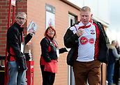 3rd December 2017, Vitality Stadium, Bournemouth, England; EPL Premier League football, Bournemouth versus Southampton; A Southampton fan makes his way to the turnstiles
