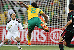11 JUN 2010: Siphiwe Tshabalala (RSA) (8) scores the first goal past Oscar Perez (MEX) (1). The South Africa National Team tied the Mexico National Team 1-1 at Soccer City Stadium in Johannesburg, South Africa in the opening match of the 2010 FIFA World Cup.