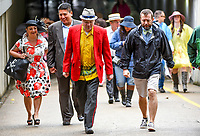 LOUISVILLE, KY - MAY 06: Fans walk to their seats on Kentucky Derby Day at Churchill Downs on May 6, 2017 in Louisville, Kentucky. (Photo by Scott Serio/Eclipse Sportswire/Getty Images)