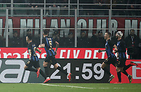 Calcio, Serie A: AC Milan - Inter Milan, Giuseppe Meazza (San Siro) stadium, Milan on 17 March 2019.  <br /> Inter's Lautaro Martinez (l) celebrates after scoring with his teammates during the Italian Serie A football match between Milan and Inter Milan at Giuseppe Meazza stadium, on 17 March 2019. <br /> UPDATE IMAGES PRESS/Isabella Bonotto