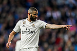 Karim Benzema of Real Madrid reacts during the La Liga 2018-19 match between Real Madrid and Real Valladolid at Estadio Santiago Bernabeu on November 03 2018 in Madrid, Spain. Photo by Diego Souto / Power Sport Images