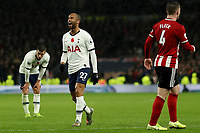 9th November 2019; Tottenham Hotspur Stadium, London, England; English Premier League Football, Tottenham Hotspur versus Sheffield United; A frustrated Lucas Moura of Tottenham Hotspur screams out loud as his shot is saved and tipped over the bar- Strictly Editorial Use Only. No use with unauthorized audio, video, data, fixture lists, club/league logos or 'live' services. Online in-match use limited to 120 images, no video emulation. No use in betting, games or single club/league/player publications