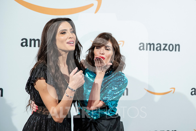 Paz Vega and Pilar Rubio pose during the inauguration of Amazon´s POP-UP at Callao cinemas<br /> November 27, 2019. <br /> (ALTERPHOTOS/David Jar)