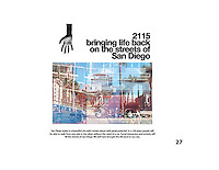 Entry for Lara Banares, NSAD. FSDA Collage Competition 2015. Lara envisions San Diego as 2115 bringing life back to the city with social interaction and activity filling the streets.