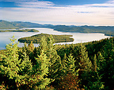 USA, Idaho, view of Priest Lake while hiking in the mountains in Idaho