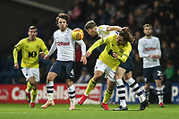 Blackburn Rovers' Bradley Dack and Preston North End's Ben Pearson<br /> <br /> Photographer Rachel Holborn/CameraSport<br /> <br /> The EFL Sky Bet Championship - Preston North End v Blackburn Rovers - Saturday 24th November 2018 - Deepdale Stadium - Preston<br /> <br /> World Copyright © 2018 CameraSport. All rights reserved. 43 Linden Ave. Countesthorpe. Leicester. England. LE8 5PG - Tel: +44 (0) 116 277 4147 - admin@camerasport.com - www.camerasport.com