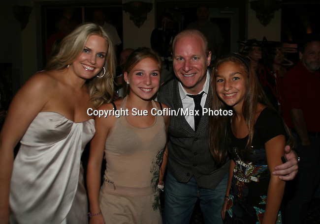 ATWT's Terri Colombino and Mike Marino (New Jersey's Bad Boy of Comedy) poses with his nieces at his Comedy Show Live at Asbury Park's Paramount Theater, Asbury, New Jersey on August 9, 2008. Coming to support Mike is actor Danny Aiello. (Photo by Sue Coflin/Max Photos_