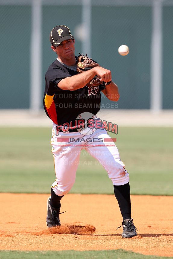 Pittsburgh Pirates minor league shortstop Drew Maggi vs. the Toronto Blue Jays during an Instructional League game at Pirate City in Bradenton, Florida;  October 11, 2010.  Photo By Mike Janes/Four Seam Images