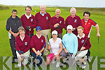 KERRY GOLF: The member's of Dunloe Golf Club who played Castlegregory Golf Club in the Kerry Nines golf tournament at the Castlegregory course on Sunday front l-r: Mary Moynihan, Breda Mulryan-Coffey (lady captain), Rosemarie O'Sullivan, Colleen Coffey and Noeleen Morrissey. Back l-r: Jack Kennedy, Larry Daly, Andrew Power (captain), Joe Godley, Tony Credon and Niall O'Sullivan...