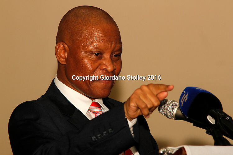 DURBAN - 14 April 2016 - South Africa's chief justice, Judge Mogoeng Mogoeng delivers the 14th Victoria and Griffiths Mxenge Memorial lecture at the University of KwaZulu-Natal, where he lamented the country's citizens for their preoccupation of seeking personal wealth over the interests of the country. Picture: Allied Picture Press/APP