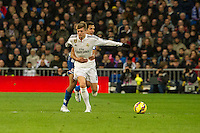 Real Madrid´s Toni Kroos and Deportivo de la Coruna's Celso Borges during 2014-15 La Liga match between Real Madrid and Deportivo de la Coruna at Santiago Bernabeu stadium in Madrid, Spain. February 14, 2015. (ALTERPHOTOS/Luis Fernandez) /NORTEphoto.com