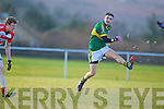Alan Fitzgerald  Kerry in action against Peter Daly Cork IT in the semi final of the McGrath Cup at John Mitchells Grounds on Sunday.
