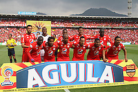 BOGOTA -COLOMBIA, 19-02-2017.Team of America de Cali .Action game between  La Equidad and America de Cali during match for the date 4 of the Aguila League I 2017 played at Ne stadium . Photo:VizzorImage / Felipe Caicedo  / Staff
