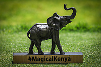 A tee marker on the 1st tee during the third round of the Magical Kenya Open, Karen Country Club, Nairobi, Kenya. 16/03/2019<br /> Picture: Golffile | Phil Inglis<br /> <br /> <br /> All photo usage must carry mandatory copyright credit (&copy; Golffile | Phil Inglis)