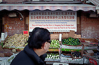 Stalls of vegetables are seen in Toronto Chinatown April 19, 2010. Toronto Chinatown is an ethnic enclave in Downtown Toronto with a high concentration of ethnic Chinese residents and businesses extending along Dundas Street West and Spadina Avenue.