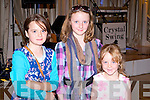 YOUNG FANS: Fans of Crystal Swing having a great time at the Crystal Swing concert in aid of the Kerry Cancer Support Group at the Earl of Desmond hotel on Friday l-r: Saoirse Cronin and Lorna and Caoimhe O'Leary.