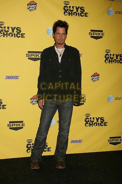 "CHRIS CORNELL.Spike TV's ""Guy Choice"" Awards held at Radford Studios, Studio City, California, USA..June 9th, 2007.full length jeans denim black shirt.CAP/ADM/RE.©Russ Elliot/AdMedia/Capital Pictures"