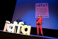 The Netherlands, Amsterdam, 15 November 2017. The 30th International Documentary Film Festival Amsterdam - IDFA 2017. Opening of the IDFA 2017 at Carre Theater. Introduction former festival director Ally Derks after receiving royal distinction Member of the Order of Orange-Nassau. Photo: 31pictures.nl / (c) 2017, www.31pictures.nl