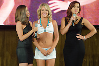 Miami Dolphins Cheerleader announced as cover at Miami Dolphins Cheerleaders Swimsuit 2014 Calendar Unveiling and Fashion Show at Fontainebleau's LIV nightclub, Miami Beach, FL, September 5, 2013