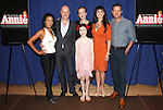 J. Elaine Marcos, Anthony Warlow, Ktie Finneran, Lilla Crawford, Brynn O'Malley & Clarke Thorell attending the Meet & Greet for 'ANNIE' at The New 42nd Street Rehearsal Studios in New York City on September 112, 2012