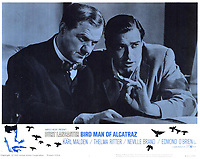 Birdman of Alcatraz (1962) <br /> Lobby card with John Frankenheimer &amp; Karl Malden<br /> *Filmstill - Editorial Use Only*<br /> CAP/KFS<br /> Image supplied by Capital Pictures