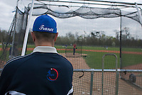 18 April 2006: French coach is seen during the third of seven 2006 MLB European Academy Try-out Sessions throughout Europe, at Stade Pershing, INSEP, near Paris, France. Try-out sessions are run by members of the Major League Baseball Scouting Bureau with assistance from MLBI staff.